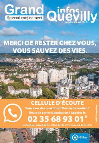 Couverture du Grand Quevilly infos spécial confinement en avril 2020