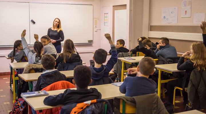Une intervention sur le thème d'orientation emploi dans une classe