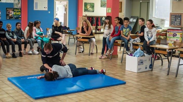 Une sensibilisation des premiers secours auprès de jeunes