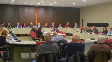 Le conseil municipal en séance