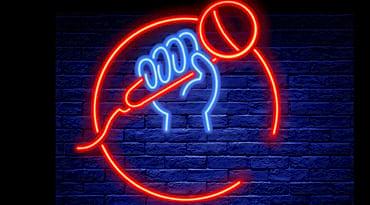Un micro en néon