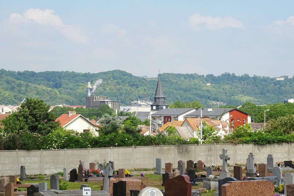 Le Bourg vue du cimetière