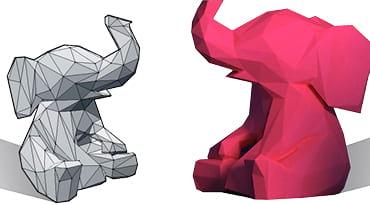 Des éléphants imprimés en 3D