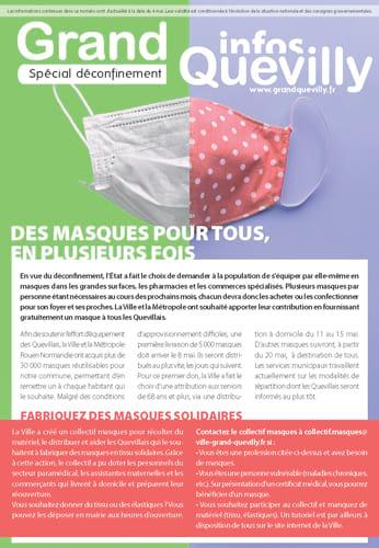 Couverture du Grand Quevilly infos de mai 2020 sur le déconfinement
