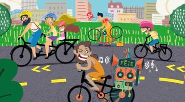 Dessin de cyclistes