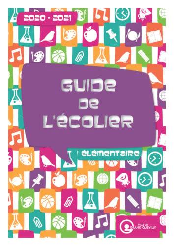 Couverture du guide de l'écolier élémentaire 2020-2021