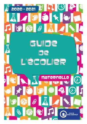 Couverture du guide de l'écolier maternelle 2020-2021