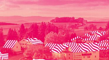 Un paysages avec un filtre rose