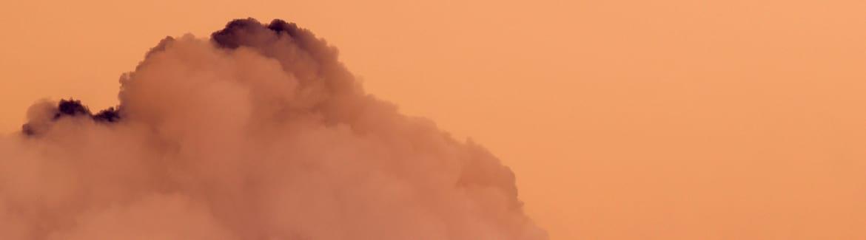 Une photographie de crépuscule orangée de Marc-Antoine Garnier