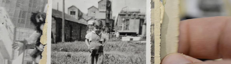 Une photo d'archive de vie quotidienne dans le Bourg