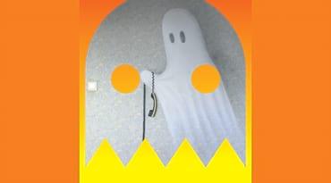 Un fantôme dessiné sur un mur